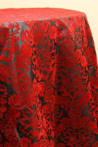 gorgeous. red flock tablecloth | Party: Flamenco ...