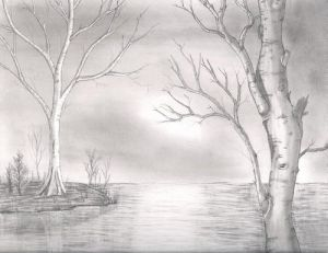 lake drawing pencil drawings lakes background landscape