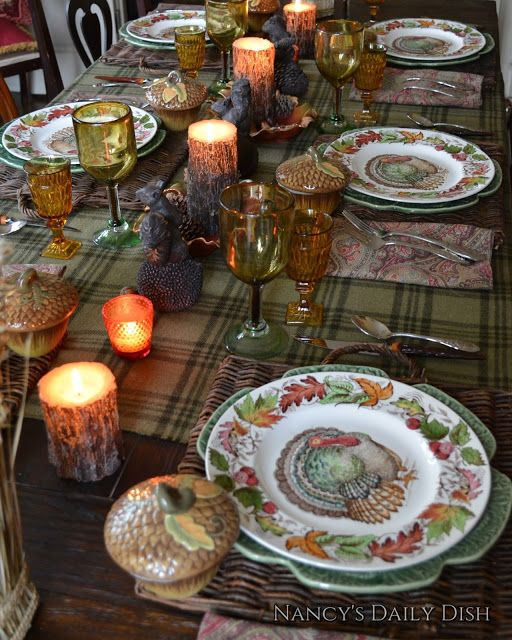 Nancy's Daily Dish: Thanksgiving Tablescape & A Surprise Birthday Party: