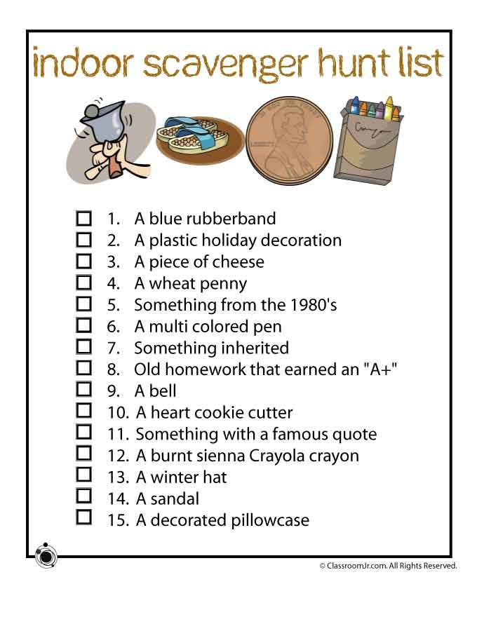 Ideas For A Scavenger Hunt At Home Home Ideas