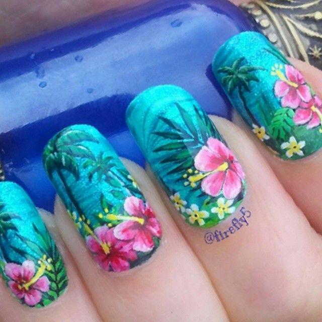 Best 20+ Hibiscus nail art ideas on Pinterest