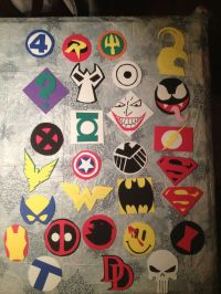 Marvel and DC heroes and villains! | Door Decorations ...