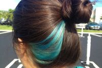 25+ best ideas about Blue hair streaks on Pinterest