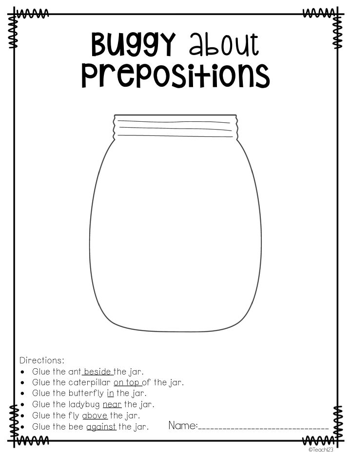 25 best images about Preposition Activities on Pinterest