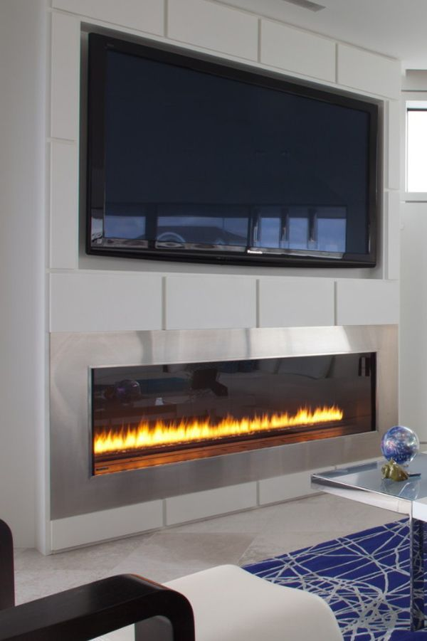 17 Best ideas about Linear Fireplace on Pinterest
