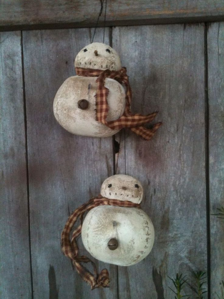 country snowman ornaments