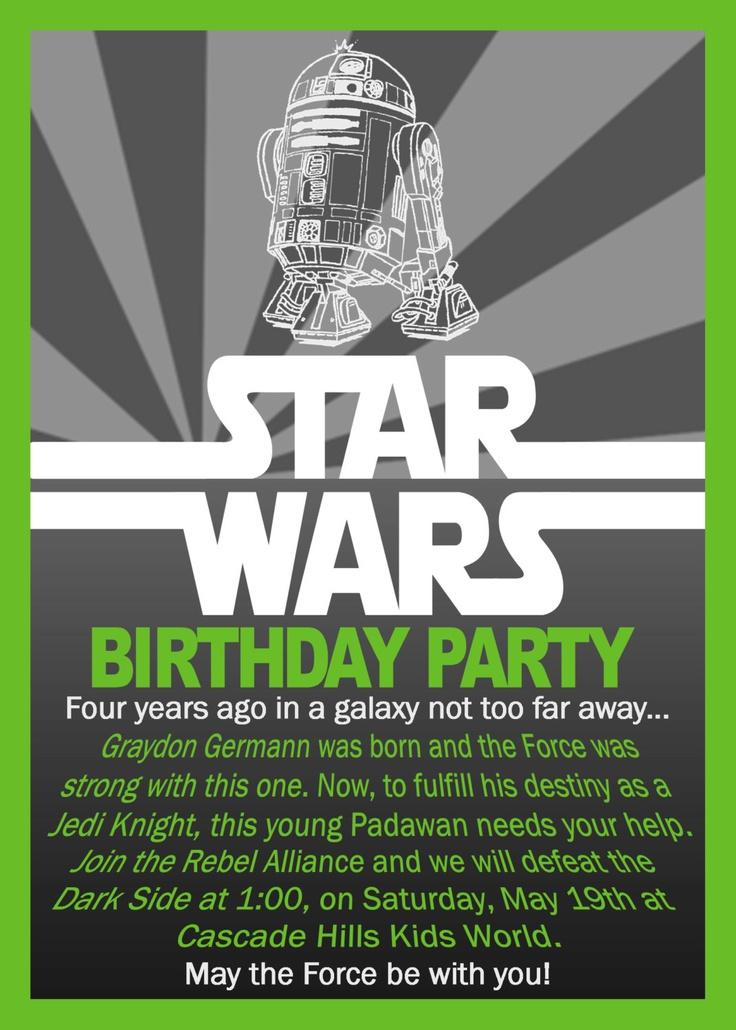 star war invitations
