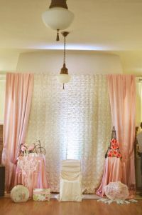 paris style baby shower backdrop