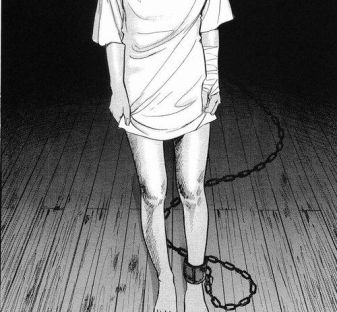 Image result for legs chained in the basement
