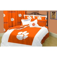 Clemson Tigers Twin XL-size 10-piece Dorm Bed in a Bag ...
