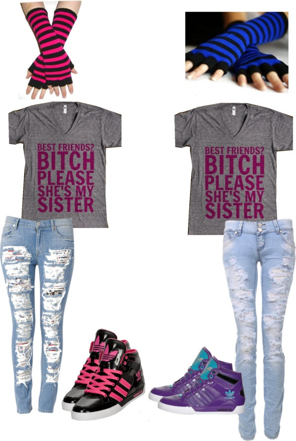 best friend outfits with
