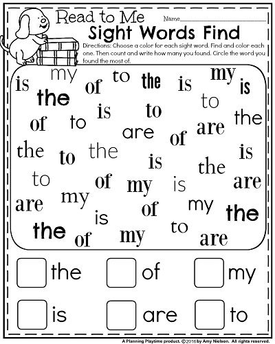 25+ best ideas about Pre k sight words on Pinterest