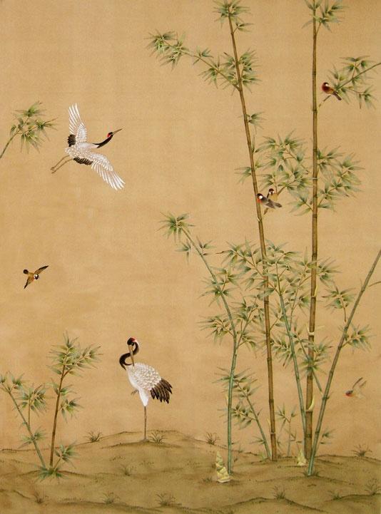 Chinoiserie Wallpaper Crane Grove Historische Wandgestaltung Pinterest Chinoiserie