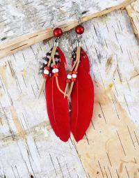 1000+ ideas about Feather Earrings on Pinterest   Earrings ...