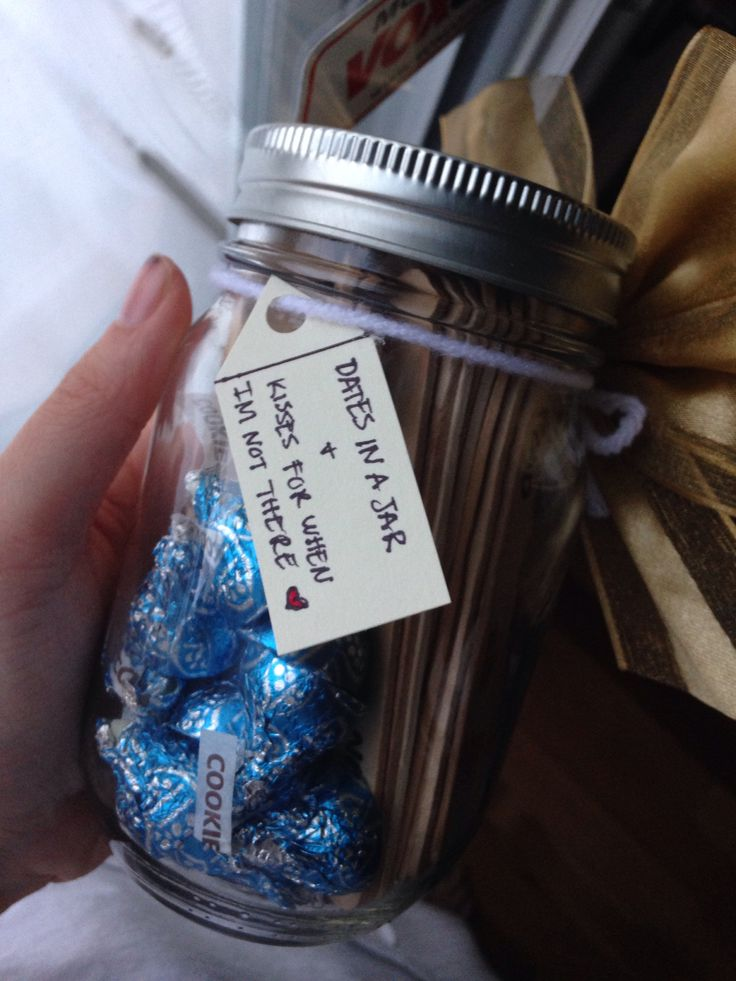 Date Ideas In A Jar And Kisses For When I'm Not There! #