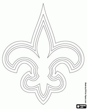 Logo of New Orleans Saints, american football team in the