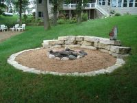 Sand patio/firepit | Outdoor fire places/pits | Pinterest ...