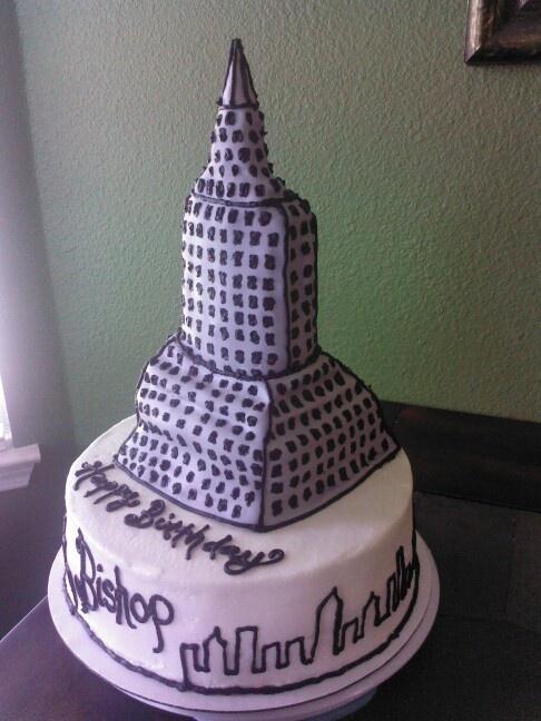 Empire State Building Birthday Cake Sugar Muffin S