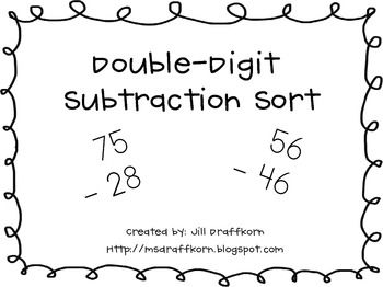 17 Best images about Subtraction regrouping on Pinterest