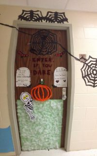 Halloween decorations for dorm door! | Halloween Ideas ...