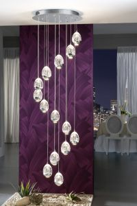 Rocio 14 Light Cluster & Cascade Pendant Light