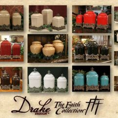 Decorative Kitchen Canisters Sets Island With Sink And Stove Top Drake Design Faith Canister Collection | ...