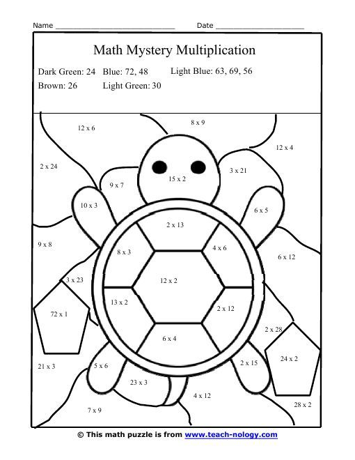 25+ best ideas about Math coloring worksheets on Pinterest