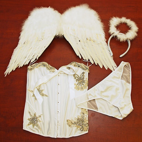 Victorias Secret Costume Sexy Little Angel Wings Bling Pearls Rhinestones L Sexy Victorias