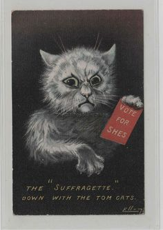 Vintage UK poster in support of women fighting for the right to vote  Foreign Cats