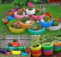 Repurposed tires | Project for hubby | Pinterest | Tire ...