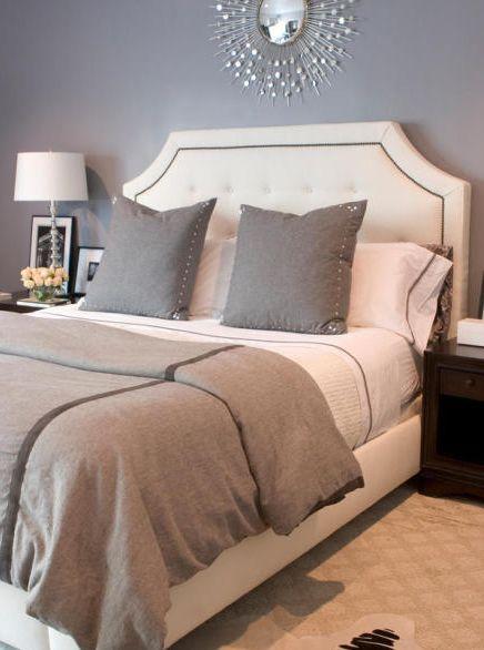 Erinn Valencichi gorgeous gray bedroom design with gray