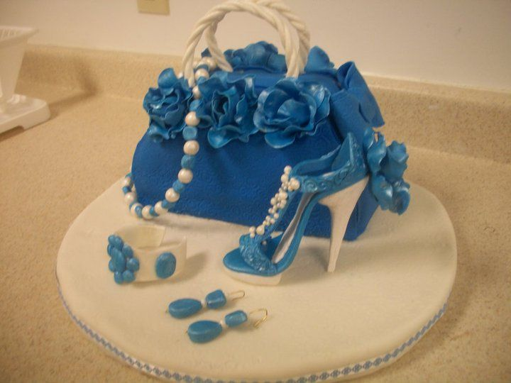 Purse and high heel cake  Unique cakes 4every occasion