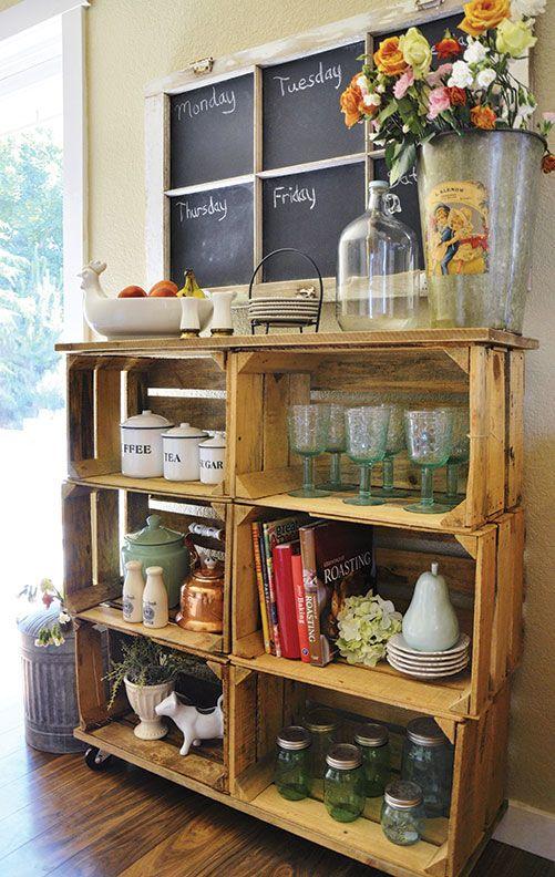 25 Best Wood Crate Shelves Ideas On Pinterest Wooden