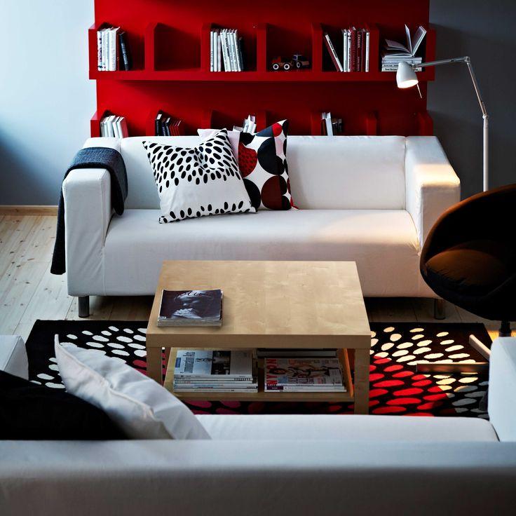 IKEA sterreich Inspiration Wohnzimmer Sofa KLIPPAN Plaid GURLI Leuchte TRL Teppich
