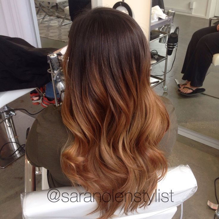 Chestnut Brown With Copper Ombr Gorgeous Hair Tips