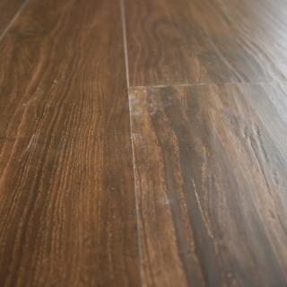 Hand Scraped Walnut Luxury Vinyl Plank Flooring 4mm x 6 x