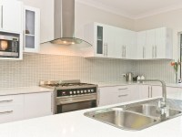 White kitchen and funky tiled splashback | Kitchen ideas ...