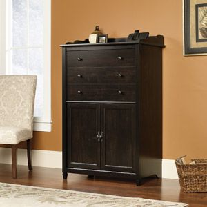 Sauder Edge Water Smartcenter Secretary In Estate Black