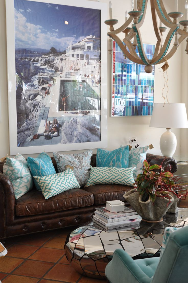 living room decor with brown leather couches curved curtain rods 25+ best ideas about couch on pinterest ...