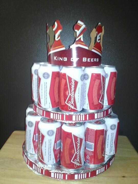 Budweiser Beer Cake Crown Out Of Case Beer Cake
