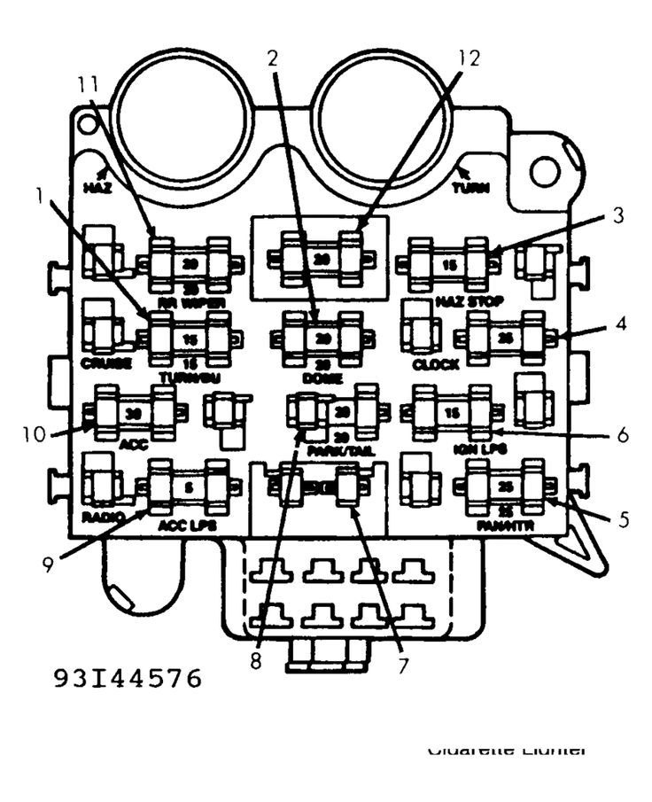 1991 jeep cherokee headlight wiring diagram leviton outlet under dash fuses 1993 wrangler | side there is fuse box that ...