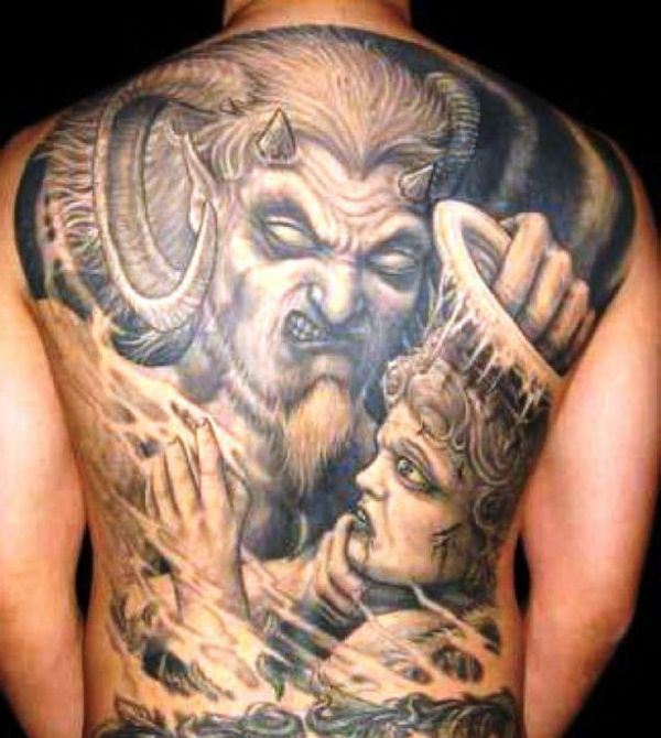 20 Good And Evil Heart Tattoos Ideas And Designs