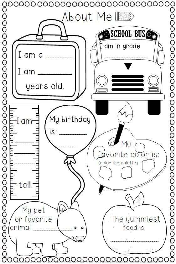 158 best images about Unit 1 All About Me-Back to School
