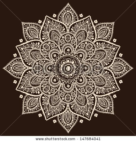 Indian Traditional Pattern Of Black And White – Flower Mandala Stock Vector 161966852 : Shutterstock
