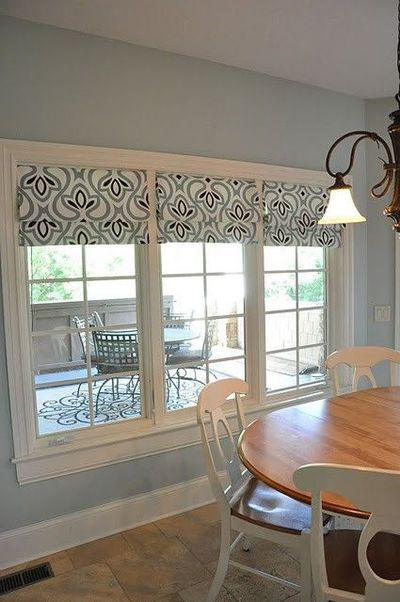 no sew roman shades made from target tablecloth  Sewing