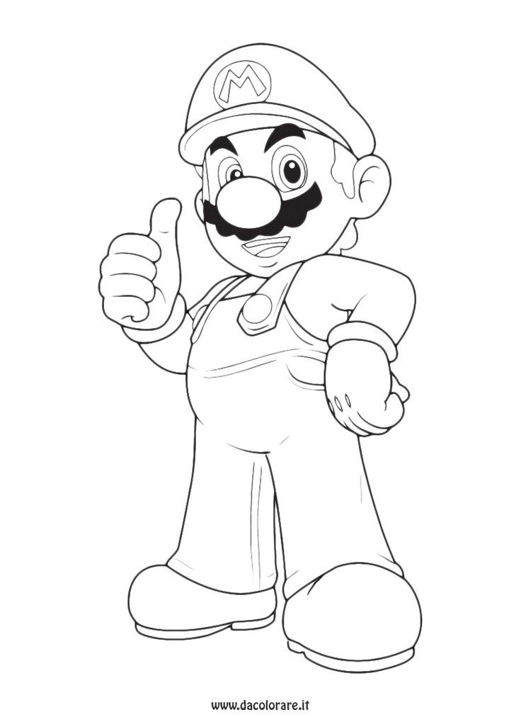 10 best images about Super Mario Bros: Disegni da colorare