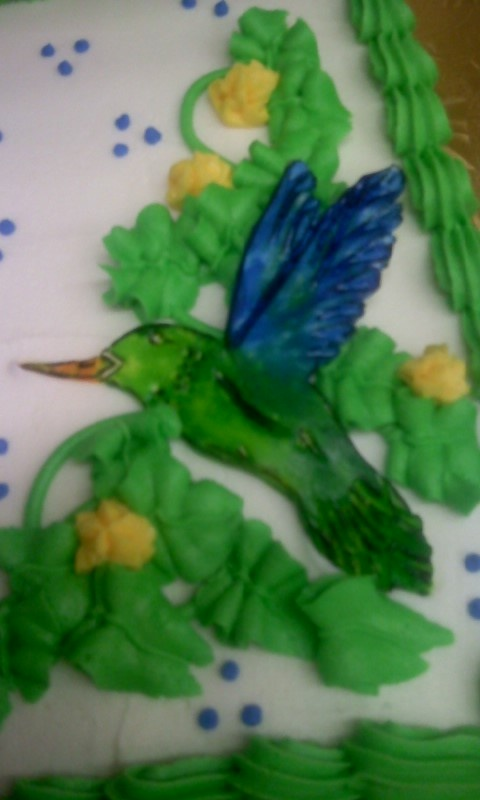 Fondant Hummingbird Retirement Cake  My Cakes  Pinterest  Retirement Retirement cakes and Cakes