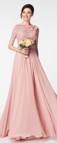 Lace Bridesmaid Dress With Sleeves | www.pixshark.com ...