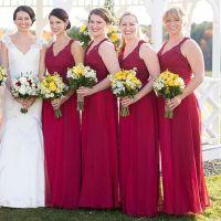 1000+ ideas about Burgundy Bridesmaid Dresses on Pinterest ...