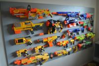 Nerf Gun Wall Storage, i think im going to do this in my ...
